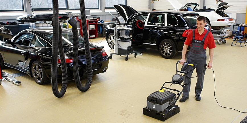Rozwiązania Kärcher dedykowane warsztatom samochodowym