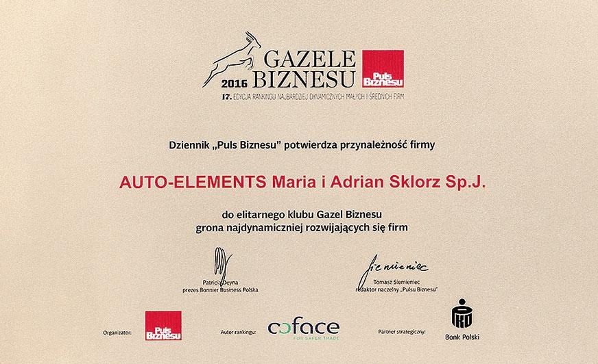 Gazela Biznesu dla Auto-Elements