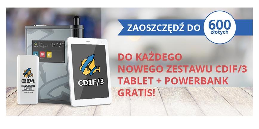 Szereg promocji do systemu CDIF/3. Dostań tablet, powerbank lub 1000 zł!