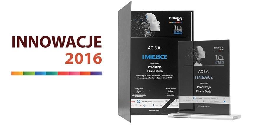 AC S.A. laureatem rankingu Innowacje 2016
