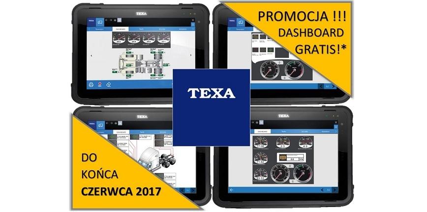 Promocja TEXA związana z funkcją DASHBOARD
