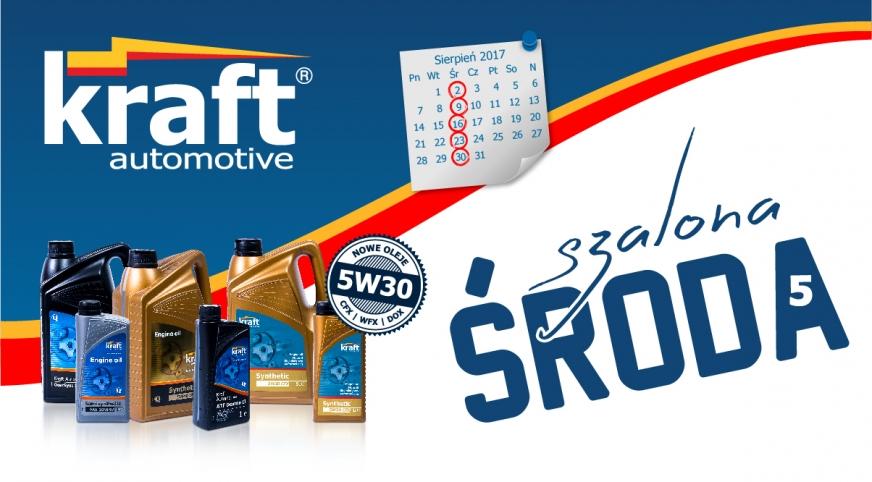 Szalone Środy wracają – promocja na oleje Kraft Automotive