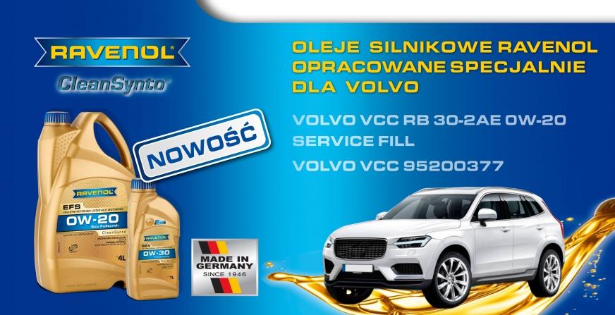 Ravenol: nowe oleje silnikowe specjalnie dla marki Volvo
