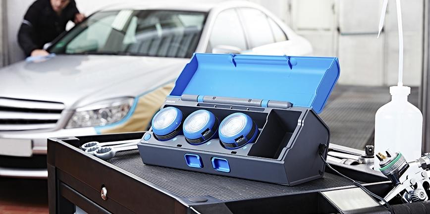 Nowoczesne lampy warsztatowe Philips na targach Inter Cars [FILM]