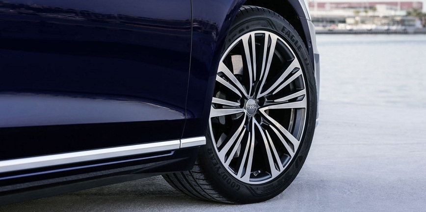 Nowe Audi A8 na oponach Goodyear