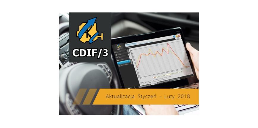 Aktualizacja Styczeń – Luty 2018 systemu diagnostycznego CDIF/3