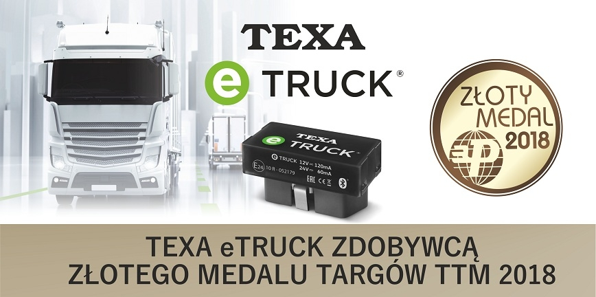 TEXA eTRUCK zdobywcą Złotego Medalu MTP