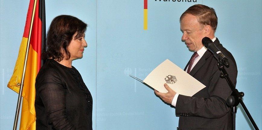 Krystyna Boczkowska, prezes Robert Bosch w Polsce, odznaczona Orderem Zasługi RFN