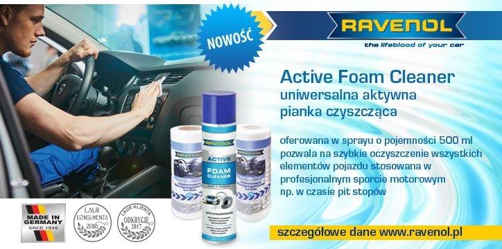 Nowość: RAVENOL Active Foam Cleaner + chusteczki