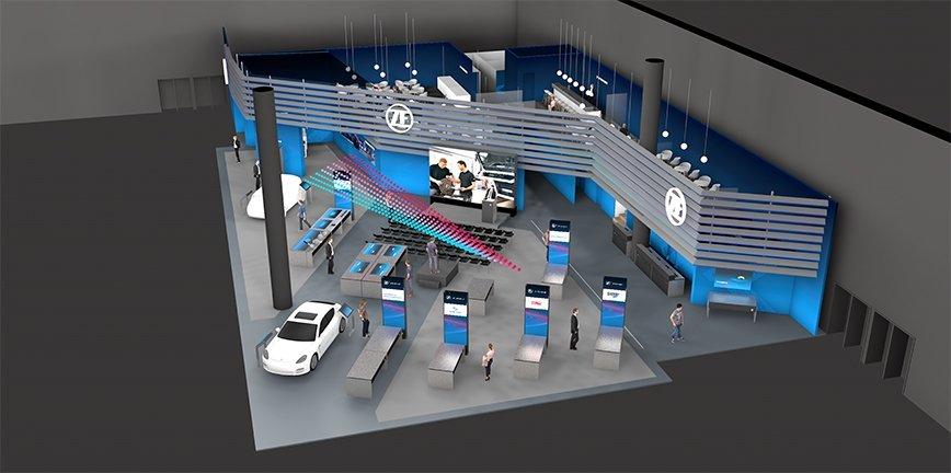 Stoisko ZF Aftermarket numer 91 w hali 3 koncentruje się na inteligentnych rozwiązaniach i innowacyjnych produktach