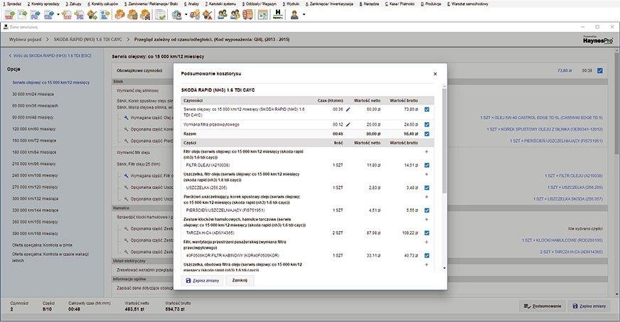 Efektywne zarządzanie (4) – dane serwisowe: przeglądy/konserwacja, wymiana olejów/płynów
