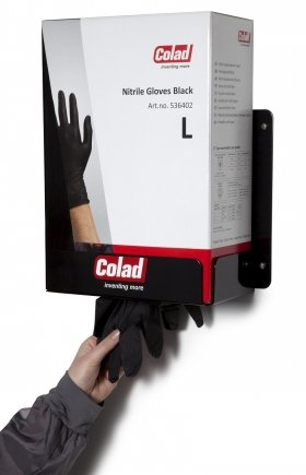 Colad prezentuje duży podajnik do czarnych rękawic nitrylowych