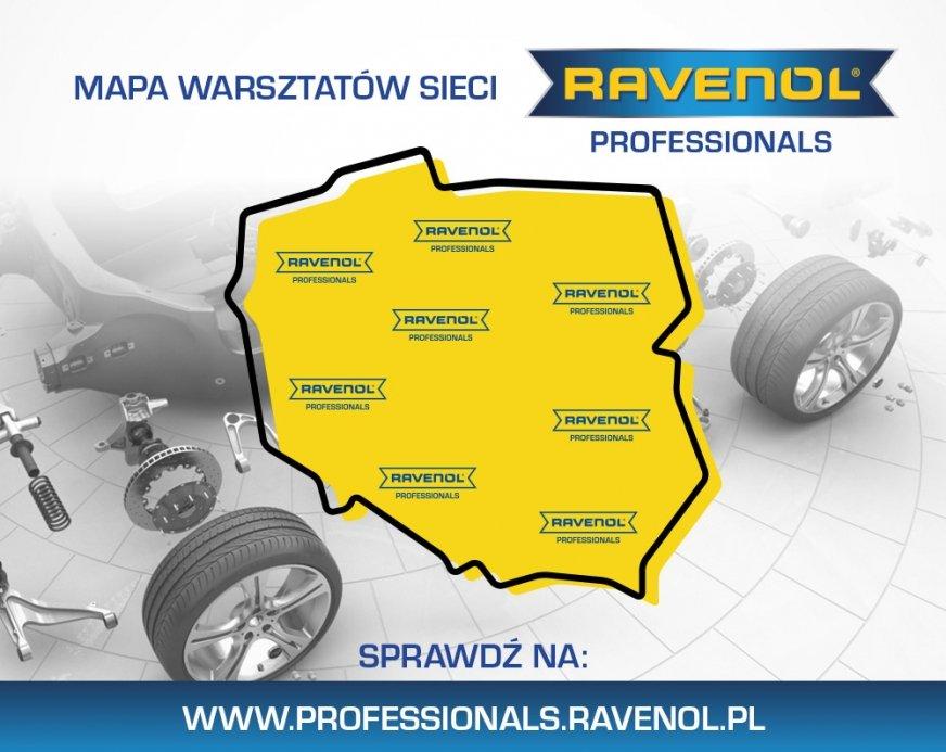 Mapa sieci warsztatów RAVENOL PROFESSIONALS