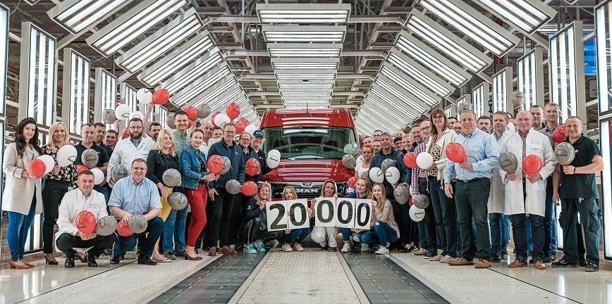 20 tysięcy samochodów MAN TGE w Volkswagen Poznań