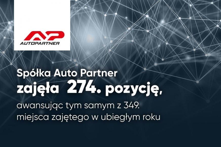 Auto Partner na 274. miejscu w rankingu Największych firm w Polsce