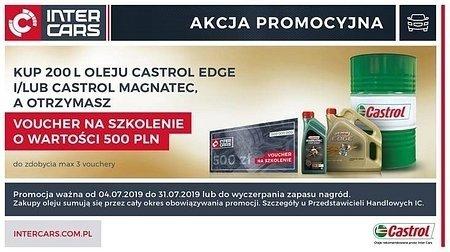 Promocja Inter Cars na oleje Castrol EDGE i Magnatec