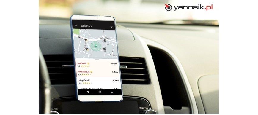 Yanosik: warsztaty samochodowe oceniane przez kierowców