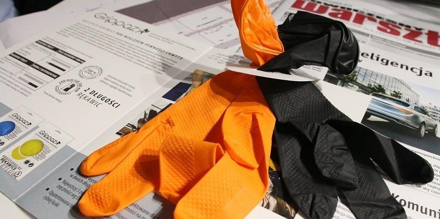 Rękawiczki do warsztatu - specjalna warstwa ułatwia chwyt