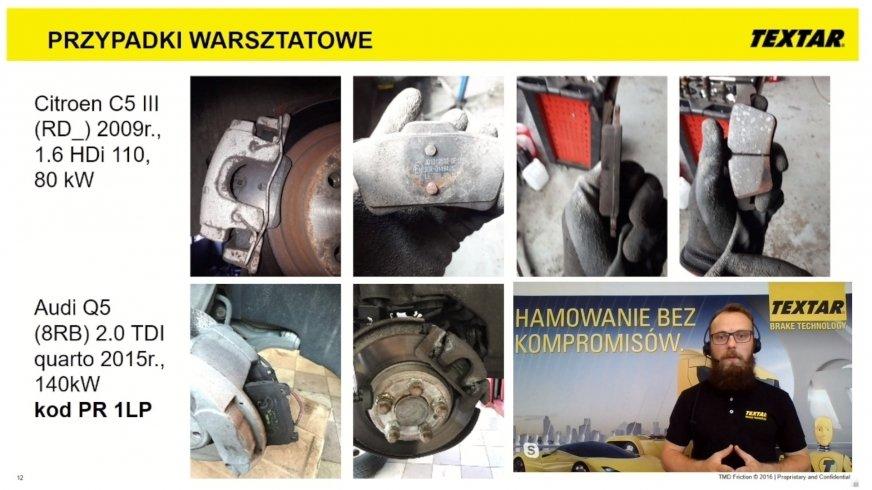Akademia Techniczna Warsztat.pl: kierunkowe klocki hamulcowe. Zobacz przypadki z warsztatów!