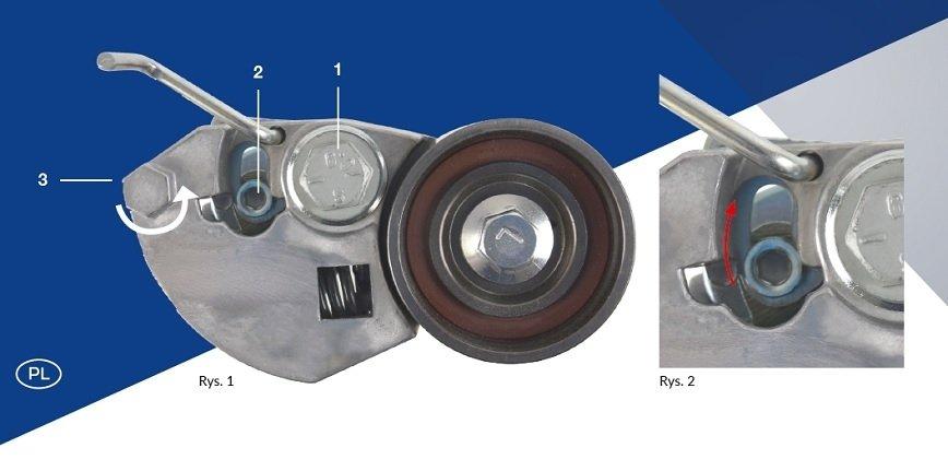 Napinacz paska rozrządu - uwaga na przedwczesne usunięcie kołka blokującego [Rozwiązania Blue Print]