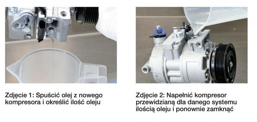 Ważne podczas napełniania kompresora klimatyzacji olejem