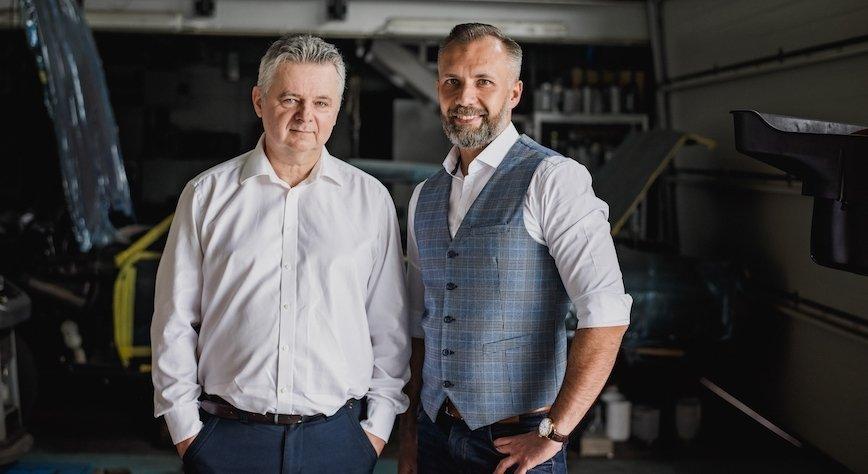 Grzegorz Karnicki oraz Krzysztof Hawryszuk - pomysłodawcy i twórcy internetowej giełdy zużytych opon.