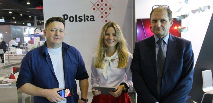 Stoiska Ministerstwa Rozwoju, na którym prezentowana jest oferta blisko 40 polskich firm.