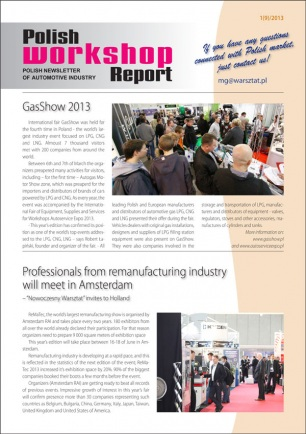 Polish Workshop Report 1(9)/2013