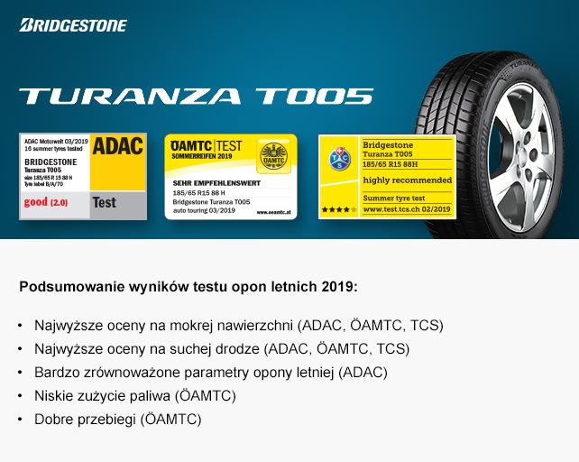 Bridgestone Turanza T005 Zwycięzcą Testu Opon Letnich Adac 2019