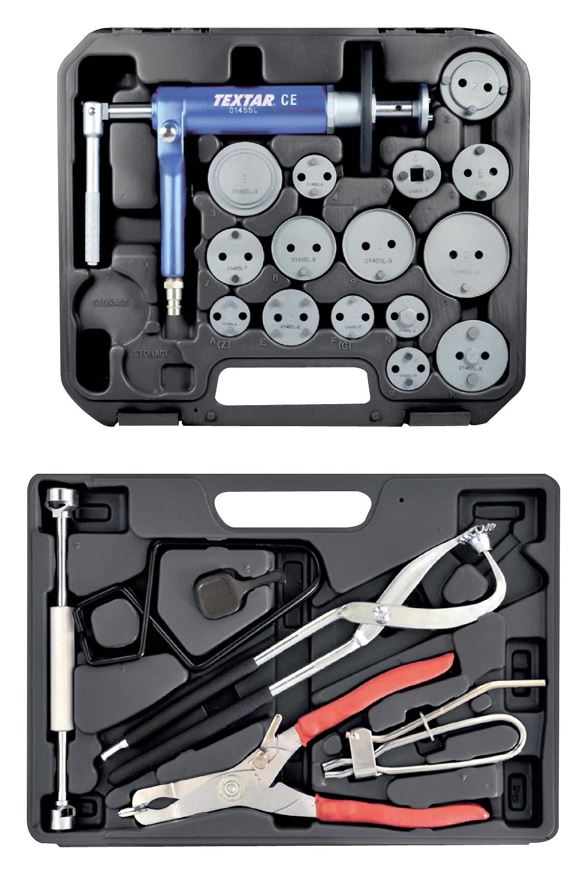 Wofercie marki Textar znajduje się szeroka paleta narzędzi, które usprawnią czynności związane zwymianą klocków itarcz